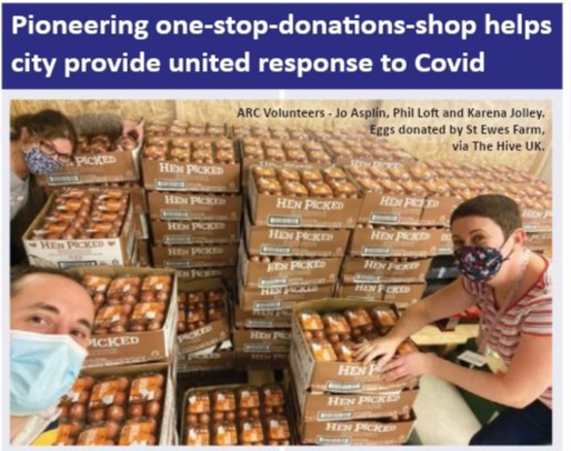 Pioneering one-stop-donation-shop helps city provide united response to COVID